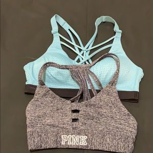 Victoria sport and pink sports bra